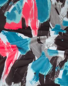 Scuba Jersey Fabric - Brushstrokes