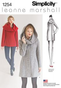 Simplicity Pattern 1254 - Leanne Marshall Easy Lined Coat/Jacket