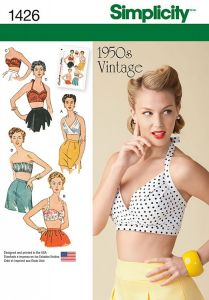 Simplicity Pattern 1426 - Vintage 1950s Bra Tops