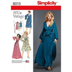 Simplicity Pattern 8013 - Vintage 1970s Dresses