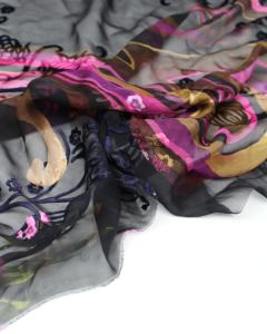 REMNANT Silk Blend Chiffon Devore - 145cm x 100cm