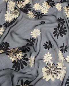Silk Viscose Devore Fabric - Haruna