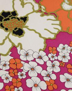 Pure Silk Ottoman Fabric - Japanese Garden