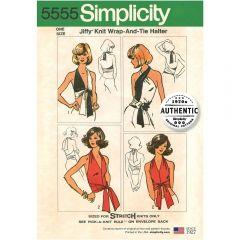 Simplicity Pattern 5555 - Vintage Jiffy Multi-way Halter Top