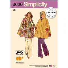 Simplicity Pattern 6630 - Vintage Jiffy Poncho
