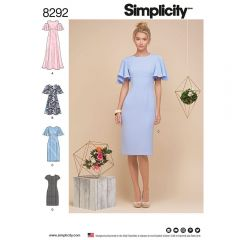 Simplicity Pattern 8292 - Angel Sleeve Formal Dress