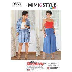 Simplicity Pattern 8558 - Mimi G Co-ord Set