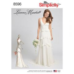 Simplicity Pattern 8596 - Leanne Marshall Tiered Train Gown