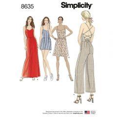 Simplicity Pattern 8635 - Lace Back Jumpsuit & Dress