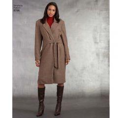 Simplicity 8796 - Lined Side Tie Coat