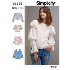Simplicity Pattern 8839 - Statement Sleeve Top