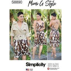 Simplicity Pattern 8890 - Mimi G Slip Dress & Jacket