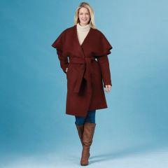 Simplicity Pattern 8990 - Cape Collar Wrap Coat