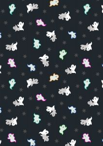 Patchwork Cotton Fabric - Castle Spooky - Spooky Ghosts