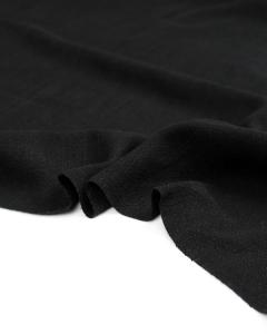 Stonewashed Linen Fabric - Black