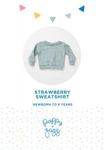 Poppy & Jazz - Paper Sewing Pattern - Strawberry Sweatshirt