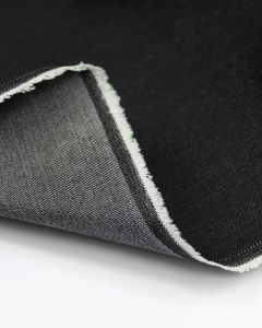 Stretch Cotton Denim Fabric - Black