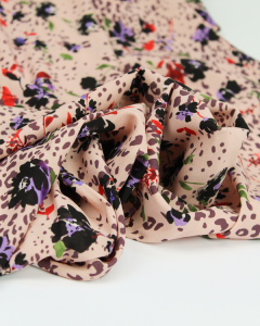 Stretch Crepe Fabric - Wild Blossom