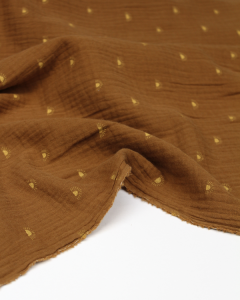 Sunset Organic Double Gauze Fabric - Cinnamon