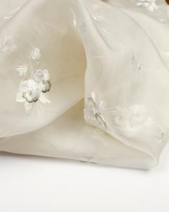 Swiss Silk Organza Fabric - Elena
