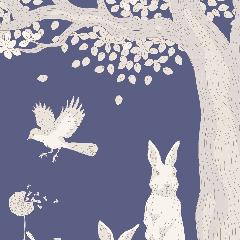 Tilda Patchwork Cotton Fabric - Woodland Blue