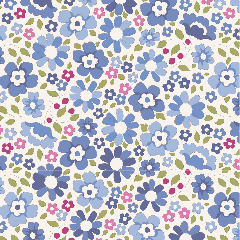 Tilda Patchwork Cotton Fabric - Woodland - Clara Blue