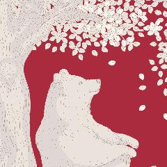 Tilda Patchwork Cotton Fabric - Woodland Carmine
