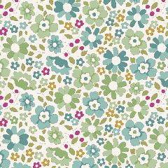 Tilda Patchwork Cotton Fabric - Woodland - Clara Teal