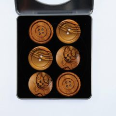 Pattern Weights - Wooden Buttons