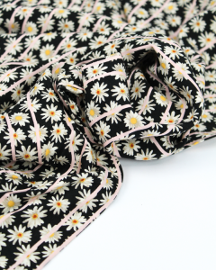 Viscose Challis Fabric - Daisy Fields