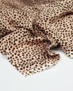Viscose Challis Fabric - Cheetah Spot Pink