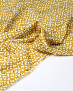 Viscose Challis Fabric - Feather Petal Mustard