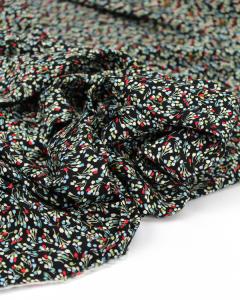 Viscose Challis Fabric - Little Lotte Black