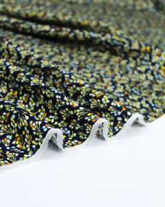 Viscose Challis Fabric - Little Lotte Navy