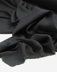 Viscose Challis Lawn Fabric - Black