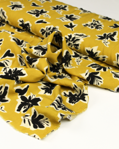 Viscose Challis Lawn Fabric - Tahiti Mustard