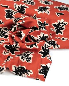 Viscose Challis Lawn Fabric - Tahiti Terra