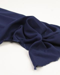 Viscose Challis Lawn Fabric - Navy