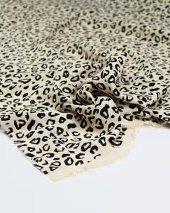Viscose Crepe Fabric - Leopard Print Pearl