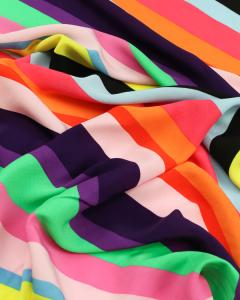 Viscose Crepe Fabric - Salvador Stripe