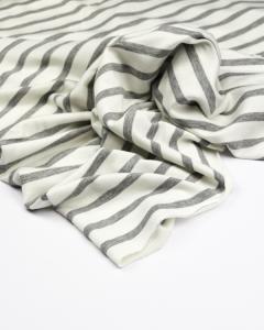 Viscose French Terry Fabric - Breton Stripe Grey