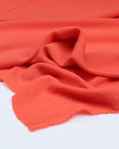 Viscose Lurex Crepe Fabric - Coral