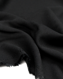 Viscose Pique Fabric - Black