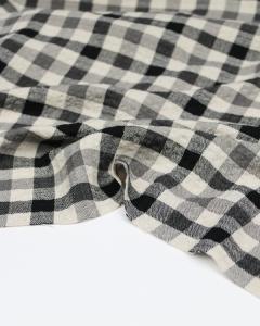 Viscose Seersucker Fabric - Flint Check Cloud