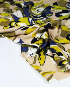 Viscose Twill Fabric - Bold Bloom