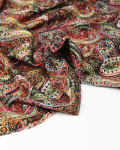 Viscose Twill Fabric - Garden Paisley