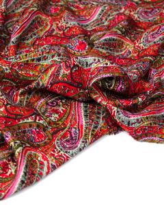 Viscose Twill Fabric - Sunset Paisley