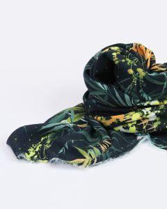 Viscose Challis Fabric - Bamboo Garden