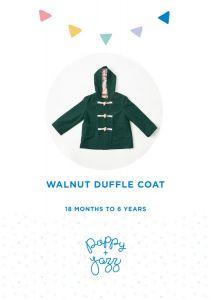Poppy & Jazz - Paper Sewing Pattern - Walnut Duffle Coat