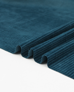 Washed Jumbo Corduroy Fabric - Petrol